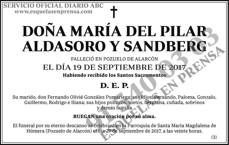 María del Pilar Aldasoro y Sandberg